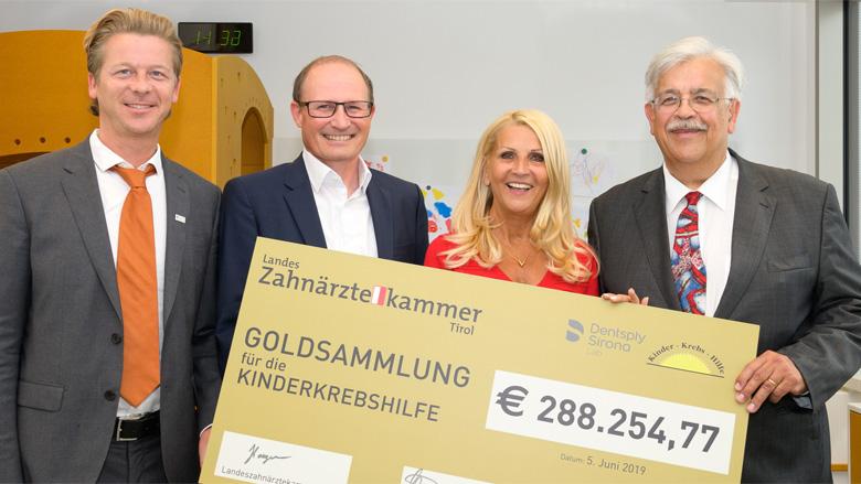 Kinderkrebshilfe: Knapp 300.000 Euro Spenden durch Alt- und Bruchgold