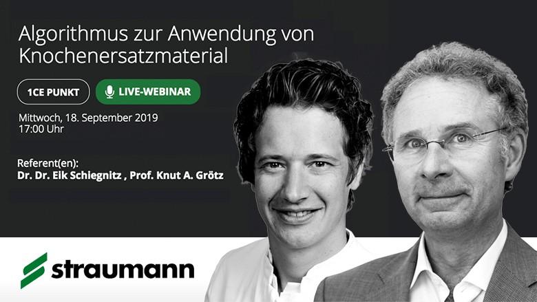Straumann präsentiert Webinar zur Anwendung von Knochenersatzmaterialien